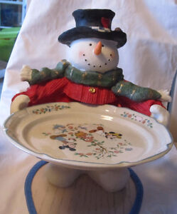 Snowman cookie plate holder  Box 60