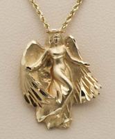Lost 14k gold Angel Pendant