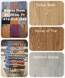 Luxury 12 mm Laminate Starts From Only $1.39/sq.ft!
