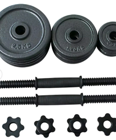 New Cast Iron Free Weights 20kg Dumbell Set