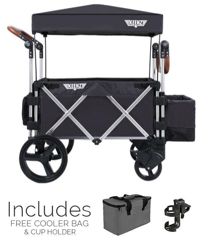Keenz 7S Stroller Wagon Refurbished Certified (Black)