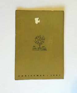 GOODYEAR TIRE & RUBBER CO. 1957 Christmas Booklet- Forever Green