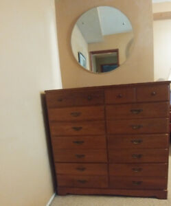 Solid Cherry Dresser - 8 Drawers