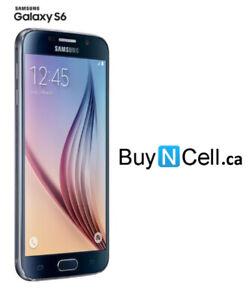 MINT SAMSUNG GALAXY S6 32GB UNLOCKED BLACK 3 MONTHS WARRANTY$199