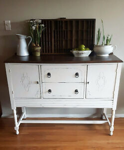 Rustic Antique Country Sideboard / Buffet Server