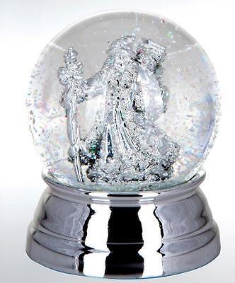 Exlusive Schneekugel-Weihnachtsmann - versilbert und anlaufgeschützt - 6,5 cm