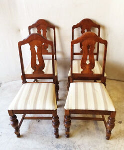 479: Set Of 4 Antique Mahogany Dining Chairs