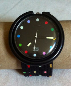 Vintage Swatch Watch - 1989 Pop Parade Colorful Dots