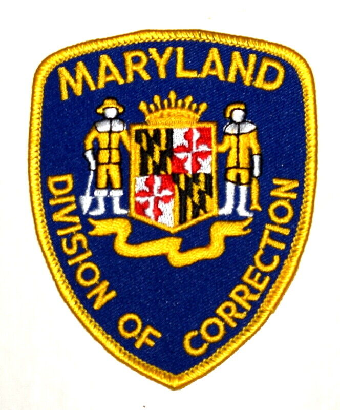 MARYLAND – DIVISION OF CORRECTION – MD Sheriff Police Patch COAT ARMS ~