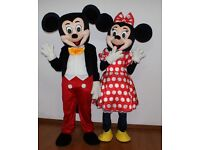 Mickey and Minnie Mouse Mascot Costume Hire