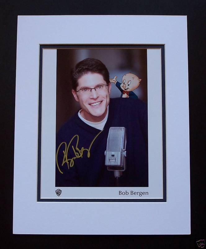 Bob Bergen Voice  of Porky Pig Matted Photo