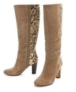Rosegold Statement Genuine Suede Leather Boot 8.5 NEW* msrp $400