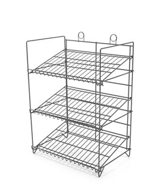 Counter Gum Candy And Snack Display Rack - 3 Shelf Black