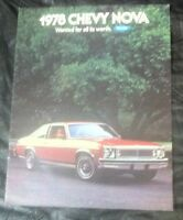 1978 Chevy Nova car Brochure.