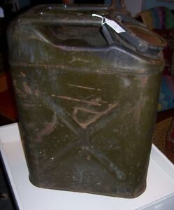 Old US  Military Fuel Tin Can