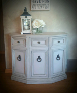Antique Console Table ~ Cabinet Shelf