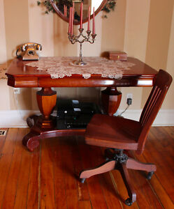 Stunning Antique Library Table /Desk