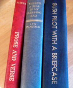 3 books- Bush Pilot With a Briefcase, Seal in my Sleeping Bag +