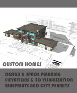 Architectural design and drafting services services in calgary custom home design drafting rendering only 06sf malvernweather Choice Image