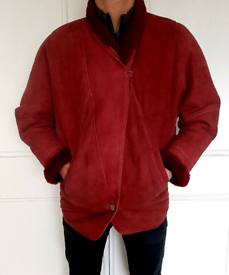 POLDEN Sheepskin men's jacket RED