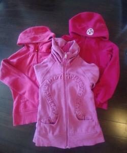 3 Lululemon Hoodies Jackets Size 6 Pink