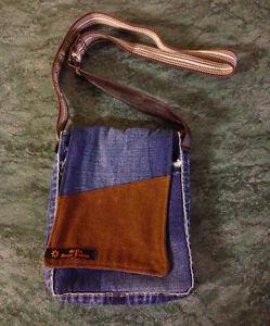 Jeans Handbag (handmade with re-purposed materials)