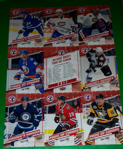 National Hockey card day uncut sheet