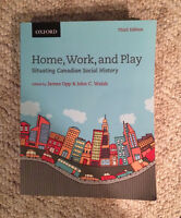 Home, Work, and Play Situating Canadian Social History