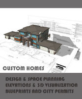 CUSTOM HOME DESIGN DRAFTING PERMITS only $0.60 / SF