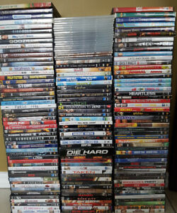 150+ USED DVDs
