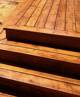 Deck Twins: staining and deck repair