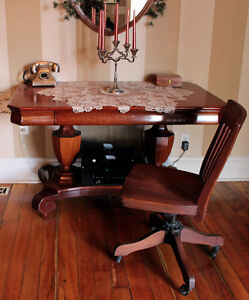 Stunning Antique Library Table /Desk/ Dining Table Windsor Region Ontario image 1