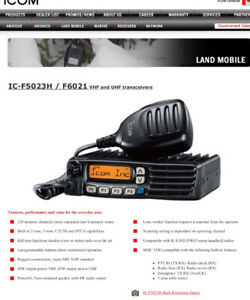 Icom 2 way truck radio