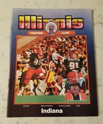 Illinois Illini Indiana Hoosiers Football Program 11/16 1985 Ray Hairston Dad