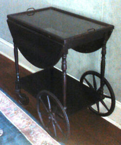 Antique Mahogany Tea Trolley