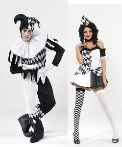 ADULT-HARLEQUIN-JESTER-CLOWN-CIRCUS-COSTUME-HAT-HALLOWEEN-MEDIEVAL-FANCY-DRESS