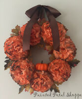 Coffee Filter Pumpkin Wreath/ Fall/Autumn Wreath