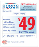FURNACES & AIR CONDITIONERS 24/7 EMERGENCY REPAIR $49 SERVICE