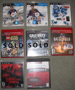 Various video games for Playstation 3 PS3