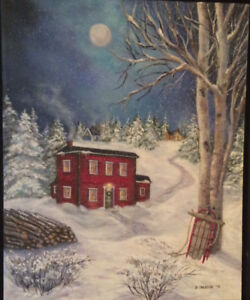 The Newfoundland Saltbox   Print of oil painting