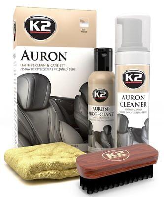 Kit Profesional Limpiador De Cuero y Piel Acondicionador Protección K2 Premium