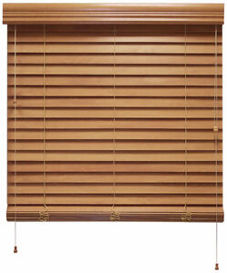 Horizontal Faux Wood blinds
