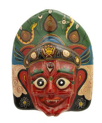 Mask Hat and Mitten Set Mahakali Kali Dance Indra Jatra Nepal Paper Mache 1321