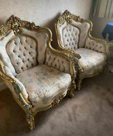 Italian silik sofa set