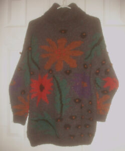 SUSSAN D -Vintage Women wool Sweater Turtle Neck Pullover size M
