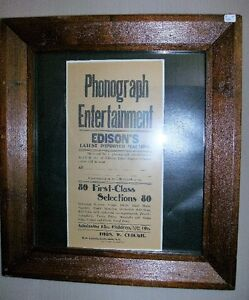 Rare Orgenal Edison Sign on Rice Paper
