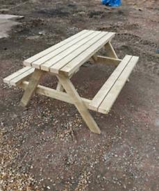 Heavy duty picnic benches