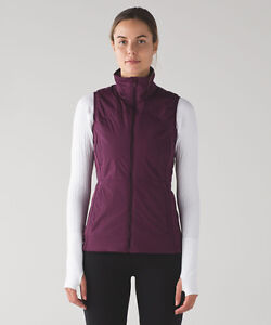 "Lululemon Plum ""Run For Cold Vest"" Size 6 New W/Tags"