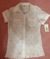 New white button up shirt size 8 with tags attached $10!!