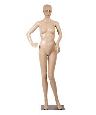 Female Full Body Realistic Mannequin Display Head Turns Dress Form Wbase F82